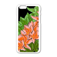 Decorative Flowers Apple Iphone 6/6s White Enamel Case by Valentinaart