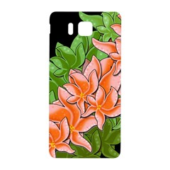 Decorative Flowers Samsung Galaxy Alpha Hardshell Back Case by Valentinaart