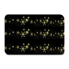 Yellow Elegant Xmas Snowflakes Plate Mats by Valentinaart