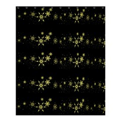 Yellow Elegant Xmas Snowflakes Shower Curtain 60  X 72  (medium)  by Valentinaart