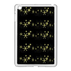 Yellow Elegant Xmas Snowflakes Apple Ipad Mini Case (white) by Valentinaart