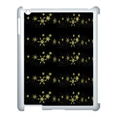 Yellow Elegant Xmas Snowflakes Apple Ipad 3/4 Case (white) by Valentinaart