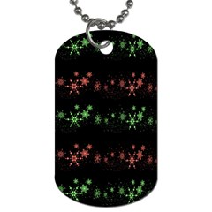 Decorative Xmas Snowflakes Dog Tag (two Sides) by Valentinaart