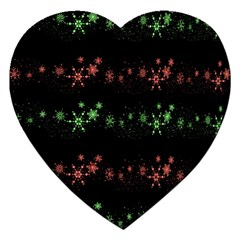 Decorative Xmas Snowflakes Jigsaw Puzzle (heart) by Valentinaart