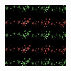 Decorative Xmas Snowflakes Medium Glasses Cloth (2 Side) by Valentinaart