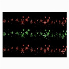 Decorative Xmas Snowflakes Large Glasses Cloth (2 Side) by Valentinaart