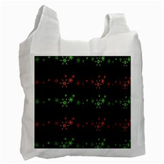 Decorative Xmas Snowflakes Recycle Bag (one Side)