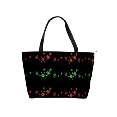 Decorative Xmas Snowflakes Shoulder Handbags by Valentinaart