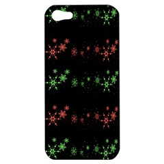 Decorative Xmas Snowflakes Apple Iphone 5 Hardshell Case by Valentinaart