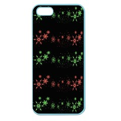 Decorative Xmas Snowflakes Apple Seamless Iphone 5 Case (color) by Valentinaart