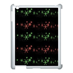 Decorative Xmas Snowflakes Apple Ipad 3/4 Case (white) by Valentinaart
