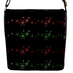 Decorative Xmas Snowflakes Flap Messenger Bag (s) by Valentinaart
