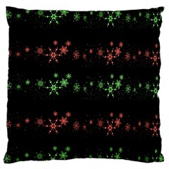 Decorative Xmas Snowflakes Standard Flano Cushion Case (two Sides) by Valentinaart
