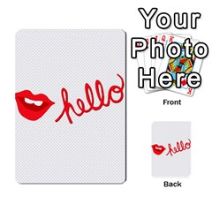 Hello Lip Red Sexy Multi Purpose Cards (rectangle)  by AnjaniArt