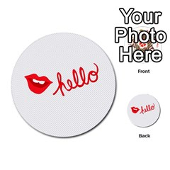 Hello Lip Red Sexy Multi Purpose Cards (round)  by AnjaniArt