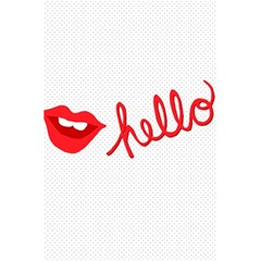 Hello Lip Red Sexy 5 5  X 8 5  Notebooks by AnjaniArt