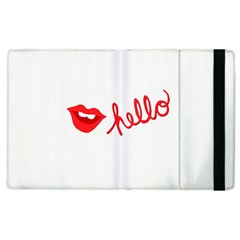 Hello Lip Red Sexy Apple Ipad 3/4 Flip Case by AnjaniArt