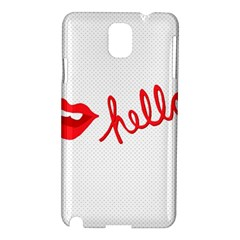 Hello Lip Red Sexy Samsung Galaxy Note 3 N9005 Hardshell Case
