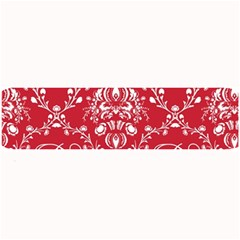 Initial Damask Red Paper Large Bar Mats