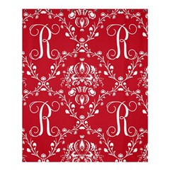 Initial Damask Red Paper Shower Curtain 60  X 72  (medium)  by AnjaniArt