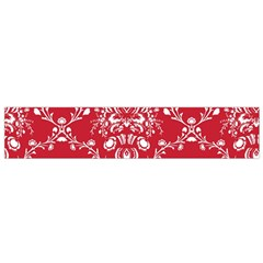 Initial Damask Red Paper Flano Scarf (small)