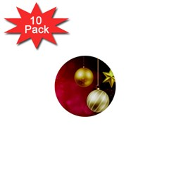 Lamp Star Merry Christmas 1  Mini Buttons (10 Pack)  by AnjaniArt