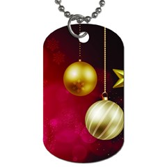 Lamp Star Merry Christmas Dog Tag (two Sides) by AnjaniArt