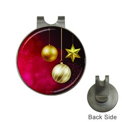 Lamp Star Merry Christmas Hat Clips With Golf Markers
