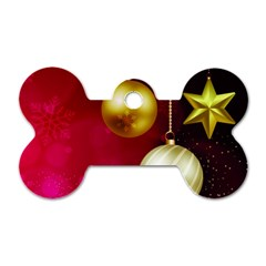 Lamp Star Merry Christmas Dog Tag Bone (one Side) by AnjaniArt