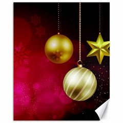 Lamp Star Merry Christmas Canvas 11  X 14   by AnjaniArt