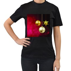 Lamp Star Merry Christmas Women s T-shirt (black) by AnjaniArt