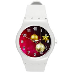 Lamp Star Merry Christmas Round Plastic Sport Watch (m)