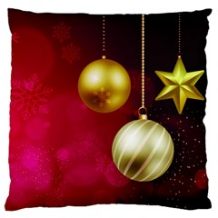 Lamp Star Merry Christmas Large Cushion Case (one Side)