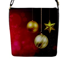 Lamp Star Merry Christmas Flap Messenger Bag (l)  by AnjaniArt