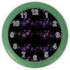 Purple Elegant Xmas Color Wall Clocks by Valentinaart