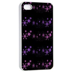 Purple Elegant Xmas Apple Iphone 4/4s Seamless Case (white)