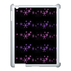 Purple Elegant Xmas Apple Ipad 3/4 Case (white) by Valentinaart