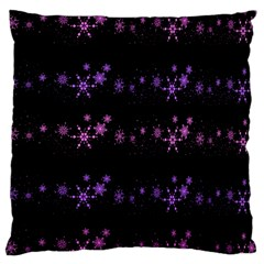 Purple Elegant Xmas Large Flano Cushion Case (one Side) by Valentinaart