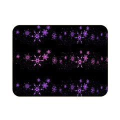 Purple Elegant Xmas Double Sided Flano Blanket (mini)  by Valentinaart