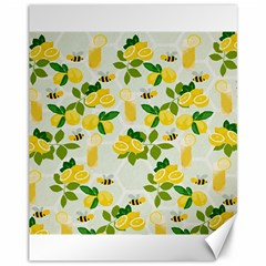Lemon Print Fruite Juise Fress Drink Canvas 11  X 14