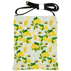 Lemon Print Fruite Juise Fress Drink Shoulder Sling Bags