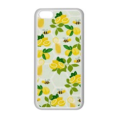 Lemon Print Fruite Juise Fress Drink Apple Iphone 5c Seamless Case (white) by AnjaniArt