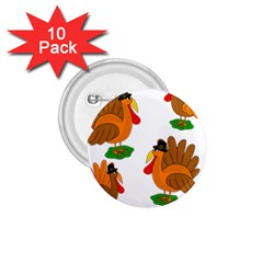 Thanksgiving Turkeys 1 75  Buttons (10 Pack) by Valentinaart