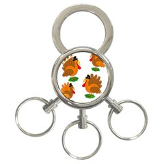 Thanksgiving Turkeys 3-ring Key Chains by Valentinaart