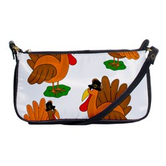 Thanksgiving Turkeys Shoulder Clutch Bags by Valentinaart
