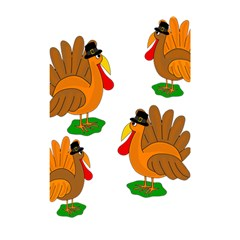 Thanksgiving Turkeys Shower Curtain 48  X 72  (small)  by Valentinaart