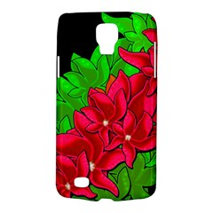 Xmas Red Flowers Galaxy S4 Active by Valentinaart