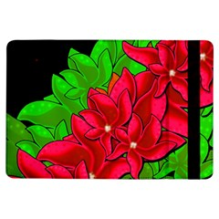 Xmas Red Flowers Ipad Air Flip by Valentinaart