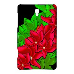 Xmas Red Flowers Samsung Galaxy Tab S (8 4 ) Hardshell Case  by Valentinaart