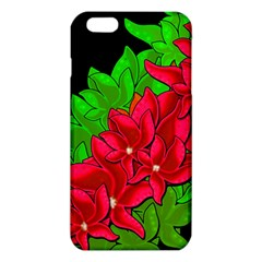 Xmas Red Flowers Iphone 6 Plus/6s Plus Tpu Case by Valentinaart